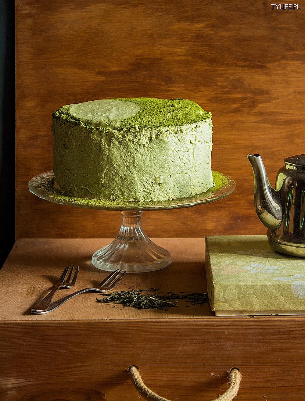 Tort z zieloną herbatą.