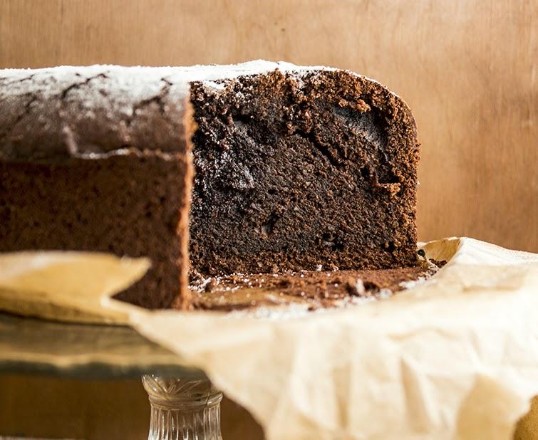 Bezglutenowe ciasto czekoladowe.