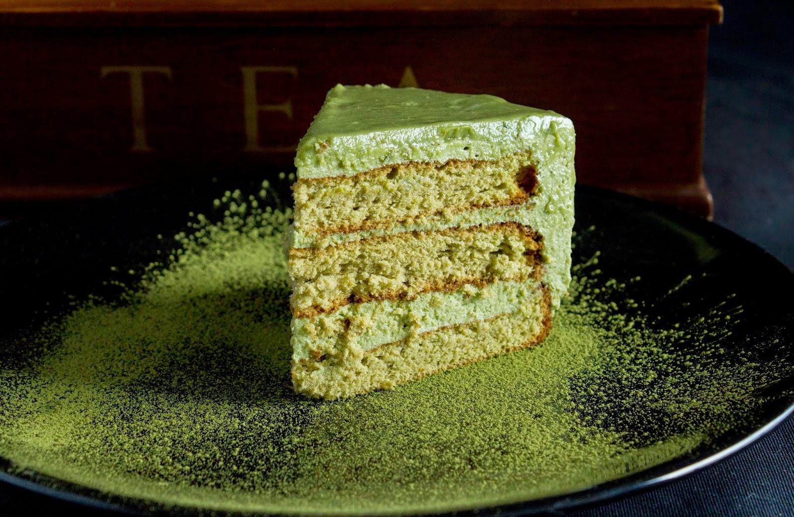 Tort z zielonej herbaty.