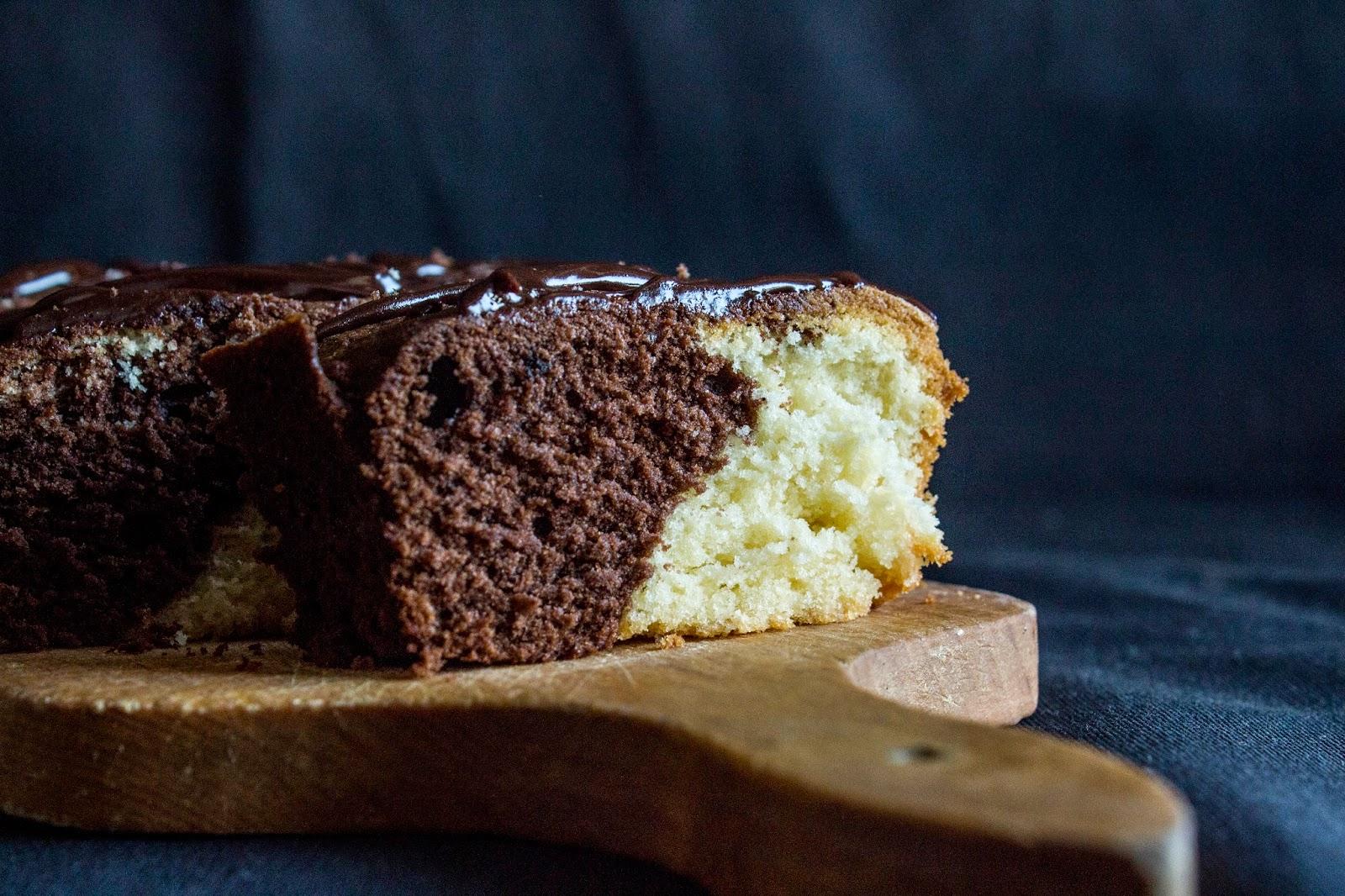Ciasto marmurkowe.