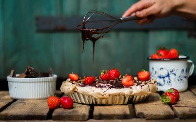 Jesienna krucha tarta z dynią, mascarpone i bezą
