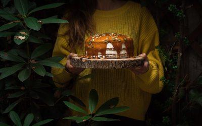 Tort dyniowy z solonym karmelem
